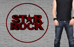 Rock star men Royalty Free Stock Photos