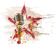Rock star microphone Royalty Free Stock Photos