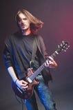 Rock-star playing a concert Stock Photos