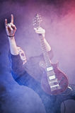 Rock-star playing a concert Royalty Free Stock Images