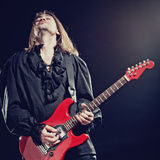 Rock-star playing a concert royalty free stock image