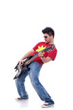 Rock star playing solo Royalty Free Stock Image