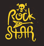 Rock Star Poster Stock Photo