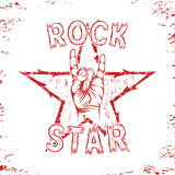 Rock star, print for t-shirt graphic. Royalty Free Stock Photos