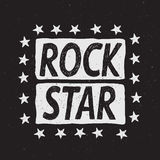 Rock star prints label Stock Photo