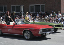 Rock Star Slash on 1971 Ford Mustang during Indy 500 Festival Parade Stock Photography