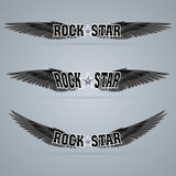 Rock star. Soars on the black wings of music on the waves Stock Photography