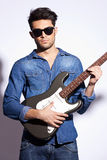 Rock star with sunglasses Royalty Free Stock Photo
