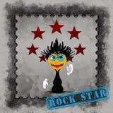 Rock Star - cartoon character Royalty Free Stock Image
