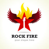 Rock star vector logo. Royalty Free Stock Images