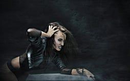 Rock-star woman Royalty Free Stock Photo