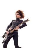 Rock star woman Stock Image