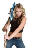 Rock Star Woman Stock Photo