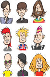 Rock stars cartoon faces