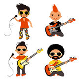 Rock stars set Royalty Free Stock Photos