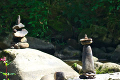 Rock statues. Minimum hdr used  - deep forest Royalty Free Stock Photography
