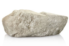 Rock, stone. Rock isolated on white, clipping path included Royalty Free Stock Photo