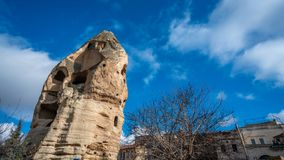 Rock Stone Goreme In Cappadocia, Turkey stock photography