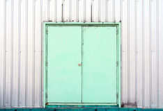 Green container doors background texture Royalty Free Stock Image