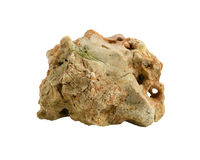 Rock stone mountain isolated on white background Stock Images