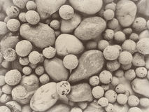 Rock stone pebble background backdrop Stock Photos