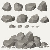 Rock stone set. Cartoon. Stones and rocks in isometric 3d flat style. Set of different boulders