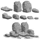 Rock stone set stock illustration