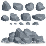 Rock stone set Royalty Free Stock Photography