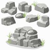 Rock stone set Royalty Free Stock Photos