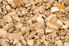 Rock and stone with soil background Royalty Free Stock Photos