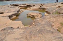 Rock stone sump Stock Photos