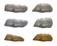 Rock, stone vector symbol , icon  design. illustration  on white background. Stock Image