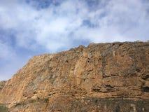 Rock with stones stock photo