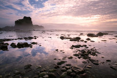 Rock and stones in the sea at low tide. Stock Photography
