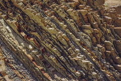 Rock strata closeup Royalty Free Stock Photography