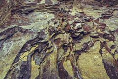 Rock strata closeup Royalty Free Stock Image