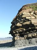 Rock strata layers of a cliff in the UK Royalty Free Stock Images