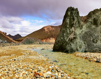 The rock and stream Royalty Free Stock Images