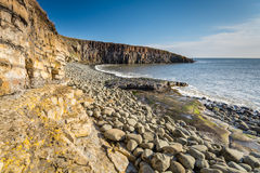 Rock structure at Cullernose Point Stock Photography