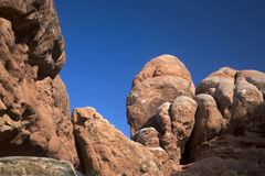 Rock structures, Arches National Park, Moab Utah Stock Images