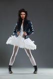 Rock style ballet dancer Stock Photos