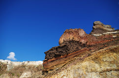 Rock. The rock style of santorini in greece Royalty Free Stock Photo