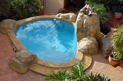 Rock Style Swimming Pool royalty free stock images