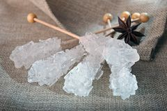 Rock Sugar Candy Stock Photography