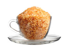 Rock sugar in cup Royalty Free Stock Photography