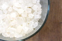 Rock sugar in a glass Royalty Free Stock Images
