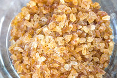 Rock sugar in a glass Royalty Free Stock Photo