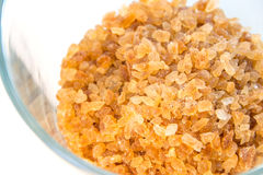 Rock sugar in a glass Royalty Free Stock Photography