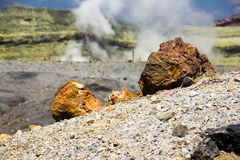 Rock on the Sulphur volcano Stock Photo