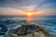 Rock and sunrise Royalty Free Stock Photography